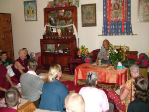 Khyongla Rato Rinpoche giving advice to Nyung Nay Retreatants, May 2016