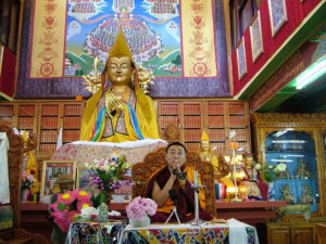 "Yangten Rinpoche leading the ""Chenrezig Retreat"""