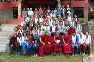 Geshe Dorji Damdul and over 60 course participants, March 2016