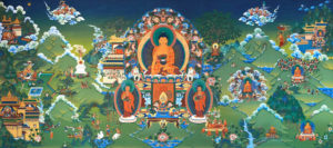12 Deeds of the Buddha mural
