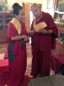 Lama Zopa Rinpoche with Khadro la