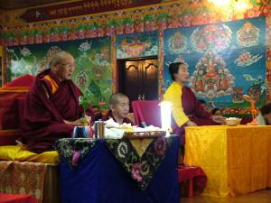 Dagri Rinpoche & Khadro la inauguration of new statues, February 25th