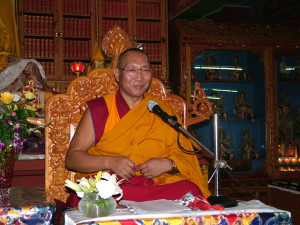 Dagri Rinpoche giving teachings, March 1st