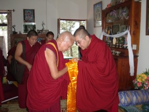 His Eminence Ling Rinpoche and Lama Zopa Rinpoche, March 30th