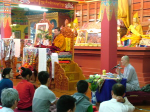 Yangten Rinpoche teaching a group of Vietnamese students, May 13 & 14