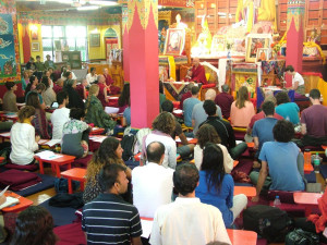 Despite the short notice for this 2-day course our gompa was again packed with 100 students.