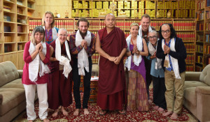 His Holiness the Karmapa with SPC Ven Kunphen and Vajrasattva Group, October 7th.