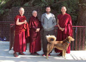 Our teachers Venerables Amy Miller & Drolma, Tushita staff Ven Kunphen, Kiko & Yeshe.