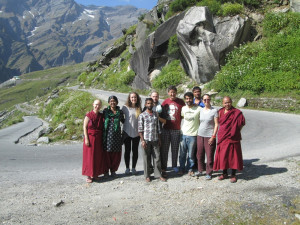 The Tushita Team - happy to go on pilgrimage to Lahaul!