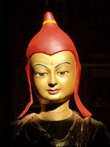 Lama Atisha's face